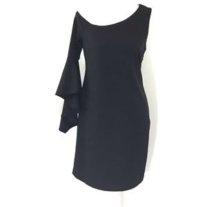 VINCE CAMUTO ONE SLEEVE BLACK DRESS NWOT